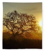 Autumn Sunset Fleece Blanket