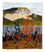 Autumn Sunset On The Hills Fleece Blanket