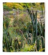 Autumn Swamp Fleece Blanket
