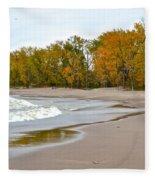 Autumn Tides Fleece Blanket