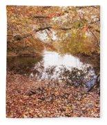 Autumn Tranquility Fleece Blanket