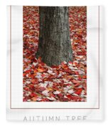Autumn Tree Poster Fleece Blanket