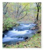 Autumn Tributary Fleece Blanket