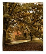 Autumn Umbrella Fleece Blanket