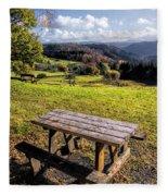 Autumn View Fleece Blanket