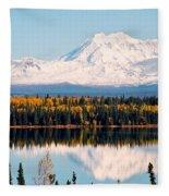 Autumn View Of Mt. Drum - Alaska Fleece Blanket
