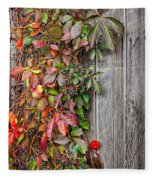 Autumn Vine Fleece Blanket