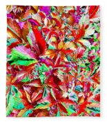 Autumn Virginia Creeper Fleece Blanket