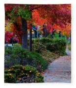 Autumn Walk In Grants Pass Fleece Blanket