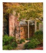 Autumn Walk In Pinehurst Fleece Blanket