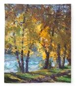 Autumn Walk Fleece Blanket