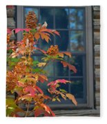Autumn Window Fleece Blanket