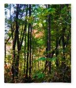 Autumn Wood Fleece Blanket