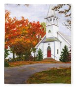 Autumn Worship Fleece Blanket