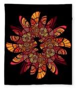Autumn Wreath Fleece Blanket