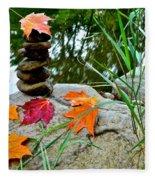 Autumn Zen Fleece Blanket