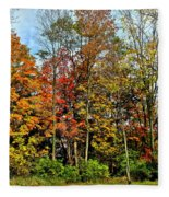 Autumnal Foliage Fleece Blanket
