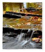 Autumnal Serenity Fleece Blanket