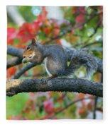 Autumnal Squirrel Fleece Blanket