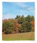 Autumnal Wave Fleece Blanket