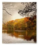 Autumn's Adieu Fleece Blanket