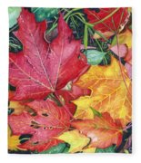Autumn's Carpet Fleece Blanket