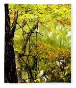 Autumn's First Reflections II Fleece Blanket