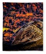 Autumns Sleepy Duck Fleece Blanket