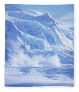Avalanche At A Distance Fleece Blanket