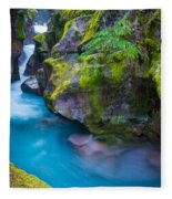 Avalanche Creek Gorge Fleece Blanket