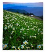 Avalanche Lily Field Fleece Blanket
