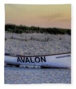 Avalon Lifeboat Fleece Blanket