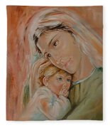 Ave Maria Fleece Blanket