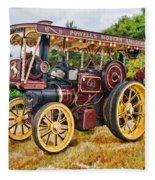 Aveling And Porter Showmans Tractor Fleece Blanket