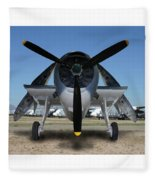 Abstract Avenger T B M Moffett Field Fleece Blanket