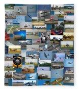 Aviation Collage Fleece Blanket