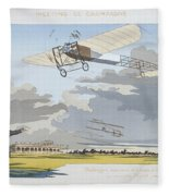 Aviation Meeting At Champagne Fleece Blanket