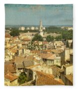 Avignon From Les Roches Fleece Blanket