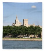 Avigon View From River Rhone Fleece Blanket