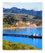 Avila Beach California Fishing Pier Fleece Blanket