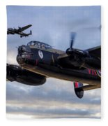 Avro Lancasters  Fleece Blanket