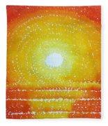 Awakening Original Painting Fleece Blanket