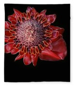 Awapuhi Ko Oko'o - Torch Ginger - Etlingera Elatior - Hawaii Fleece Blanket