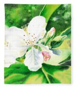 Awesome Apple Blossoms Fleece Blanket