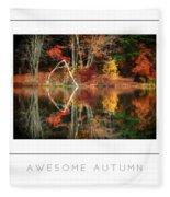Awesome Autumn Poster Fleece Blanket