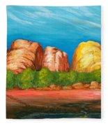Ayers Rock End Fleece Blanket