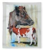 Ayrshire Cattle Fleece Blanket