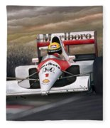 Ayrton Senna Fleece Blanket