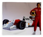 Ayrton Senna Fleece Blanket