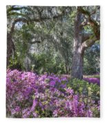 Azalea In Bloom Fleece Blanket